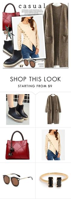"""Casual Style"" by oshint ❤ liked on Polyvore featuring awesome, amazing, fabulous, cardigans and zaful"