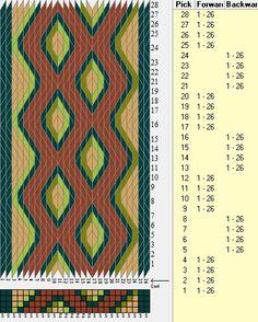 26 tarjetas, 5 colores, secuencias 4F-4B // sed_311 diseñado en GTT༺❁