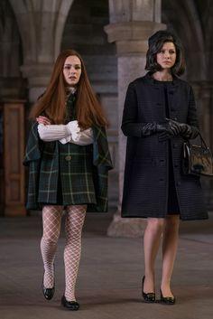 Claire Fraser Randall (Caitriona Balfe) and Brianna Fraser (Sophie Skelton) in Outlander Season Three Voyager on Starz
