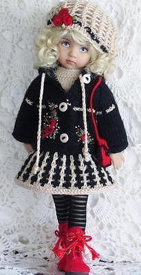 """ручной вязки платье, jacket&boot набор сделан для EFFNER LITTLE darling13 """"и такой же размер куклы"""