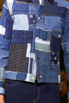 kennyp: Junya Watanabe Comme Des Garçons Man x Levi's S/S 2015 could be an idea for a tshirt?