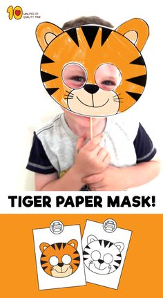 Tiger Mask Free Printable Templates Coloring Pages - Color The Mask If You Chose The Black And White Template Cut Out The Mask Including The Eye Holes Punch Holes On Both Sides Of The Mask And Attach An Elastic String Wear The Mask For Ste Animal Masks For Kids, Animal Crafts For Kids, Toddler Crafts, Mask For Kids, Preschool Crafts, Kids Crafts, Animal Mask Templates, Printable Animal Masks, Jungle Crafts