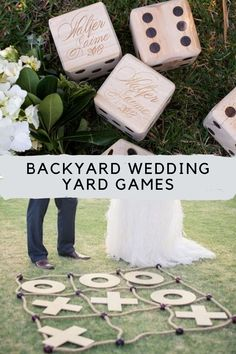 Wedding Lawn Games + How to Incorporate Them - Peachy Party Indoor Wedding Games, Wedding Yard Games, Shoe Game Wedding, Wedding Reception Games, Summer Party Games, Reception Activities, Wedding Playlist, Get The Party Started, Wedding Music Playlists