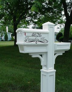Personalized Mail Box Decals Shabby Chic by WicksnCandlesticks, $12.00