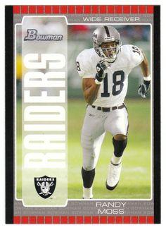 Randy Moss # 12 - 2005 Bowman Football