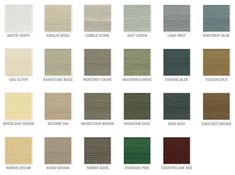 Hardie Board Colors In 2019 Patio Siding Colors