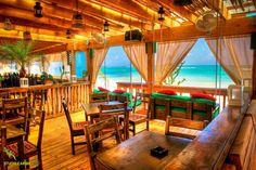 One love surf shack beach bar in las terrenas, dominican republic.
