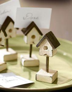 Birdhouse Place Card Holder, Set of 4 | Pottery Barn $30
