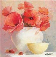Willem  Haenraets - Floral in red III