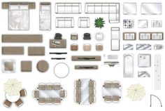 Best Free Furniture Floorplan Top Down View Psd Model Photos - Interior Design Ideas, Inspiration and Images Furniture Layout, Furniture Plans, Garden Furniture, Ikea Furniture, Metal Furniture, Furniture Stores, Interior Design Sketches, Interior Design Photos, Autocad