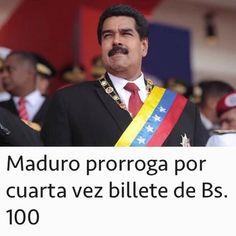 regram @venezueladiceNOS VIERON LA CARA DE G... OTRA VEZ! Maduro anunció esta tarde la prórroga del billete de 100 bolívares hasta el 20 de marzo. Así lo informó el vicepresidente Tareck El Aissami hace una hora vía Twitter. . Con esta medida vamos avanzando en la estabilización y fortalecimiento del cono monetario que es igual decir la recuperación económica. Sigamos unidos enfrentando a las mafias que dirigen el ataque al bolívar para desestabilizar el sistema monetario y perturbar la paz…