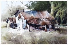 At the Edge by sterling edwards Watercolor ~ 15 x 22