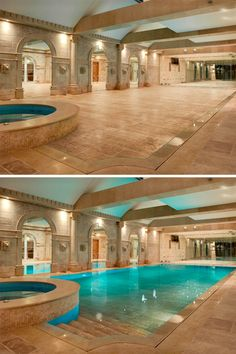 Hidden indoor swimming pool. Hidden Rooms and Secret Spaces We Love at Design Connection, Inc. | Kansas City Interior Design http://designconnectioninc.com/blog/bathrooms/top-secret-spaces-hideouts-lairs-shhhhh