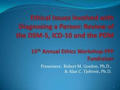 Ethical issues related to diagnosis: Review of DSM-5, ICD-10, and the PDM