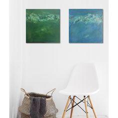 My 2 newest #paintings #blue and #green #sidebyside. Mijn 2 nieuwe #schilderijen #blauw en #groen naast elkaar. 2x[50cmx50cm] #interior #interiordesign #design #home #decor #decoration #homedecor #instagood #art #beautiful #inspiratie #modern #instahome #homedesign #livingroom #interior123 #interior4all #interiordecor #sweethome #handmade #ditisbelgisch #kunstgalerij #roomdetails