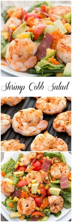 This Shrimp Cobb Salad is a sensational summer time salad #HealthyEating #CleanEating  #ShermanFinancialGroup