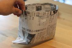 丈夫で簡単な新聞ゴミ箱(小物入れ)の作り方 | conote