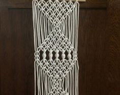Macrame Wall Hanging Lace by HollyMuellerHome on Etsy