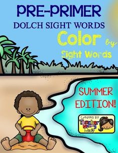 Create a book with this 13 Color by Sight Word pages using all the 40 Pre-Primer Dolch Sight Words.