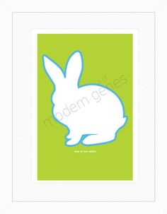 Year of the Rabbit Modern Print by moderngenes on Etsy, $20.00