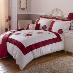 Red Veronique Bedlinen Collection    #dunelm #pinittowinit