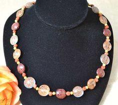 Sparkling Metallic Murano Glass Necklace £58.65