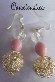 orecchini handmade con perla e cristalli : Orecchini di caracteristica