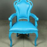 bright blue chair