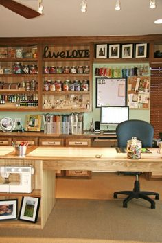 Dream craft room... I so want to do this to the  spare room and have a murphy bed or something like it for guests.