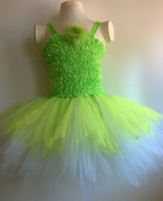 Inspired by Tinkerbell fairy tutu dress costume by ForYouWithLuv, $22.00