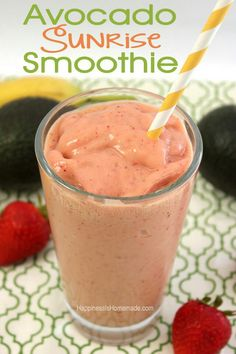 Avacado smoothie http://www.happinessishomemade.net/2013/10/21/avocado-sunrise-avocado-chocolate-smoothies/