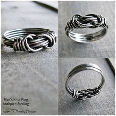 Carefully and meticulously wrapped, this wire wrapped men's ring is absolutely breathtaking. To see all the twists and turns of the wire so artfully joined together is mesmerizing. A stunning but masculine gift for the man in your life. Available in sterling silver and copper wire.