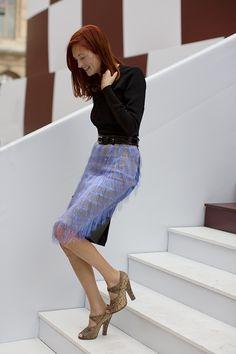 Skirt with fringe...