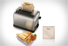 Coolest kitchen gadget ever! Toasted cheese sandwiches await.