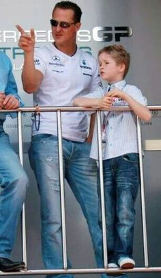 Michael Schumacher and son, Mick