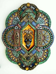 beautiful mosaics, polymer clay art