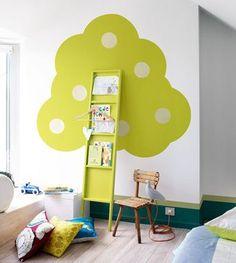 Los árboles también crecen en las habitaciones infantiles #decoración #DIY