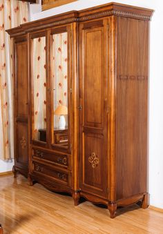 dulap 4 usi - Mobila / Mobilier Dormitor donatello Dominus clasic lemn cu intarsie | RON0.00 | #Mobila