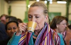U.S. Secretary of State Hillary Rodham Clinton drinks a cup of coffee while visiting the Timor Coffee Cooperative in Dili, East Timor Thursday, Sept. 6, 2012. (AP Photo/Jim Watson, Pool) ▼6Sep2012AP|Clinton in East Timor on democracy push http://bigstory.ap.org/article/clinton-east-timor-democracy-push #Dili #East_Timor #Timor_Lorosae #Hillary_Clinton