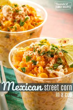 Mexican Corn Cups! Such a great appetizer, snack or side dish.