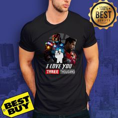 465d7154f Ironman And Daughter I Love You Three ThouSand Avenger Endgame shirt