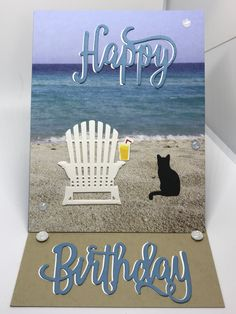 Beach Cards, Sea Theme, Stampin Up Cards, Retirement, Clever, Happy Birthday, Colorful, Seasons, Animals