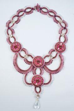 Bahay Gardens Necklace Beadweaving Necklace Lilac by Svetush