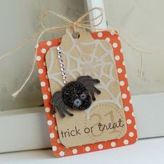 Spider Gift Tag by Betsy Veldman for Papertrey Ink (August 2012)