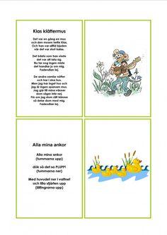 Mariaslekrum Learn Swedish, Swedish Language, Singing, Preschool, Teacher, Songs, Education, Learning, Kids