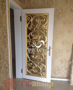 Altın Oyma Detay Kapı İşleme | Gold Engraving Detail Door Handling
