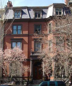 Beautiful brownstone on Commonwealth Ave in Boston, MA.