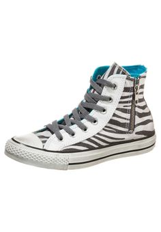 Converse - ALL STAR HI SIDE ZIP CANVAS GRAPHIC - Sneaker high - oyster grey/castlerock zebra distressed