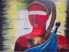 """Solange Gama Coelho: Pintura em Tela,Tecido,Cursos-9196-6422(Claro),9854-3743(Tim)-Curitiba: Pintura a óleo sobre tela """"Deusa da Justiça"""""""