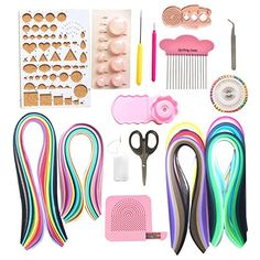 Lantee 20 Sets of Quilling Paper Kits Include 8 Pack of 3...